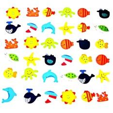 12 Pcs Novelty Hewan Magnet Kayu Anak-anak Mainan Belajar Awal-Intl