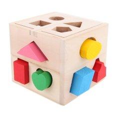 "13 Lubang Mainan Kayu Kotak Intelijen For Penyortir Bentuk Kognitif And Pencocokan Blok Bangunan Mainan Edukatif Bandung Photo: ""-anak -Intl"