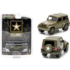 1/64 Greenlight Jeep Wrangler Us Army Dark Green - Xnggkq