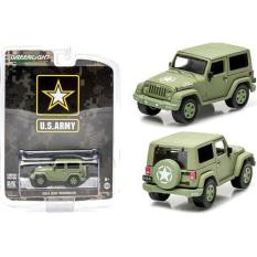 1/64 Greenlight Jeep Wrangler Us Army Light Green - B5A9C9 - Original Asli