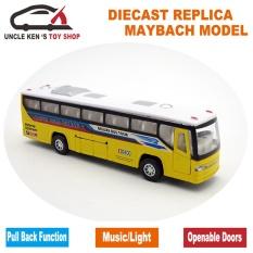 """18.5 CM Panjang Diecast Kids Mainan Bus Model, Mobil With Pintu Terbuka/Pull Back Fungsi/Light/Suara/Kotak Hadiah Bandung Photo: """"Sebagai Hadiah- INTL"""