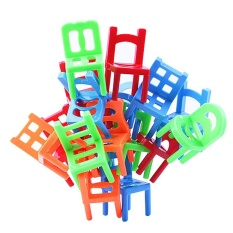 18 pcs Mini Kursi Bayi Anak-anak Pendidikan Keseimbangan Stacking Chairs Toy Gift Model Building Kit untuk Boy Perempuan-Intl