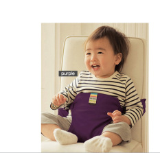 1 PC Bayi Chair Portable Seat Dining Lunch Chair Seat Safety Belt Stretch Wrap Feeding Chair Harness Baby Booster Seat -Intl