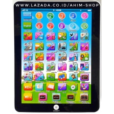1pc Mainan Edukasi Mini PlayPad iPad 2 Bahasa (INDONESIA–ENGLISH) BERMAIN Sambil BELAJAR (Warna A