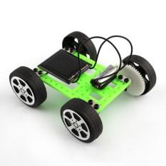 1 Pcs Mini Tenaga Surya Bertenaga Mainan Mobil Merakit DIY Perlengkapan Pendidikan Children Gadget Hobby Lucu Hijau- internasional