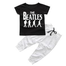 Beli 1 Set Bayi Laki Laki Anak T Shirt Atasan Celana Panjang Hitam Online Terpercaya