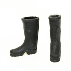 2 Pcs Dollhouse Furniture Rubber Rain Boots Home Garden Yard Toy For Gift Black 2.6*3.4cm - intl