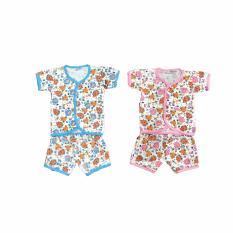 BAYIE - 2 SET MY BABY Setelan Baju Bayi Lengan Pendek + Celana Pendek 100% katun Motif lucu umur 0-6 bulan/baju santai/celana rumah/anak laki-laki/anak perempuan