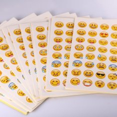 "20 Lembar/Pack Emoji Smiley Face Stiker For Notebook Pesan Instagram Guru Stiker Bandung Photo: ""anak-anak- INTL"
