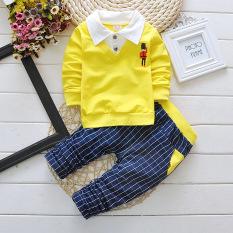 Harga 2016 Musim Gugur Katun Murni Berkualitas Tinggi Anak Boys Pakaian Set Bayi Fashion Kemeja And Pants Set Intl Oem Tiongkok