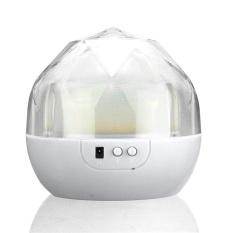 2016 Kualitas Tinggi Terbaru Portable Magic Proyek Lampu Diamond Shape3Color Mengubah LED Proyektor Bintang USB Pengisian Anak-anak NightLightProjector (Putih) -Intl