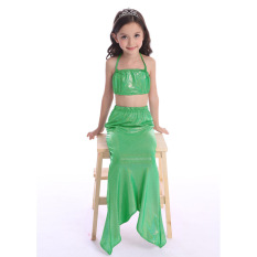 Jual 2016 Indah Gadis Mermaid Ekor Lucu Kostum Swimsuit 2016New Indah Putri Anak Bayi Gadis Mermaid Ekor Bath Split Swimsuit B*k*n* Set Gaun Hijau Online Tiongkok