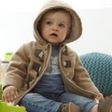 Promo Toko 2016 Baru Bayi Anak Laki Laki Jaket Musim Dingin Pakaian 2 Warna Pakaian Luar Mantel Brown Intl