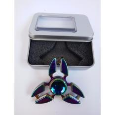 2017 Premium New Fidget toy EDC Hand Spinner Shuriken Tri-spinner Zinc Fidget Spinner For ADHD Adults Children Anxiety Stress Fidget Spinner - Rainbow