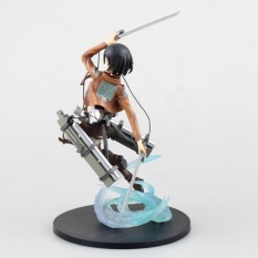23cm High Quality Attack on Titan Model Mikasa Ackerman ActionFigure Short Hair Ackerman Figure with Gift Box - intl