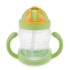 Toko 280 Ml Safety Pp Material Anak Straw Cup Botol Minum With Pegangan Online