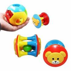 2 PC Anak Bayi Kecil Balita Jingle Rattle Penggulung Bola Lingkaran Lonceng Dipahami Pengocok' Mainan Warna-warni-Internasional