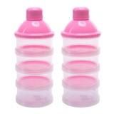 Situs Review 2 Pcs 4 Lapisan Portable Bayi Bayi Susu Bubuk Formula Dispenser Makan Kotak Penyimpanan Kotak Wadah