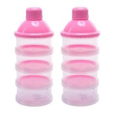 Jual 2 Pcs 4 Lapisan Portable Bayi Bayi Susu Bubuk Formula Dispenser Makan Kotak Penyimpanan Kotak Wadah Kacoo Ori