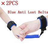 Diskon 2 Pcs Bayi Anak Anti Kehilangan Hook Loop Fastener Wrist Link Rope Band Tali Sabuk Untuk 1 12 Tahun Kids Biru Intl Branded