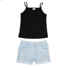 Beli 2 Pcs Bayi Perempuan Vest Tops Celana Denim Celana Pendek Pakaian Pakaian Intl Pakai Kartu Kredit