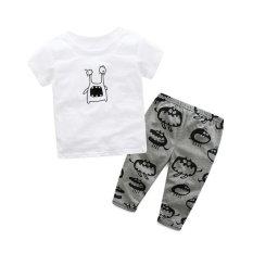 Beli Barang 2 Pcs Bayi Lengan Pendek Kartun Monster Cetak T Shirt Tops Celana Pakaian Intl Online