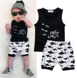 Beli 2 Pcs Summer Baby Boy Pakaian Fashion Kapas Tanpa Lengan Tank Top Ikan Dicetak Pants Bang Pendek Bayi Anak Set Pakaian Bayi Online Dki Jakarta