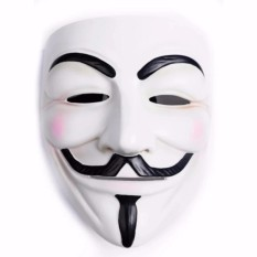 2pcs - Vendetta Occupy Anonymous Cosplay Mask - Putih