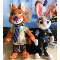 2 Pcs/lot 20 Cm Zootopia Plush Toy Rabbit Judy Hopps Fox Nick WildeMovie Anak-anak Boneka Mainan Plush Zootopia Dolls Hadiah-Intl