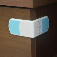 2 X Box Bayi Laci Lemari Kabinet Lemari Pakaian Anak Pintu Kulkas Kunci Pengaman Putih Biru-ต่างประเทศ