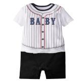 Obral 3 24 Months Baju Bayi Lengan Bang Pendek Baju Bayi Musim Panas Tubuh Bayi Baju Monyet Bebe Kain Putih Strip Murah