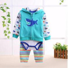 Harga 3 In1 Jumper Quincybaby Baby Set Jumper Jaket Celana Panjang Pakaian Bayi Laki Laki Shark Baru Murah