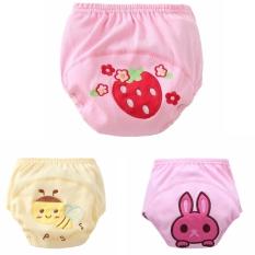 Ulasan Tentang 3 Buah Celana Pelatihan Bayi Perempuan Gambar Kartun Balita Pakaian Katun