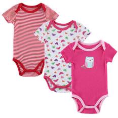 Jual 3 Pieces Set Baju Monyet Gadis And Boy Lengan Bang Pendek Musim Panas Pakaian Set Untuk Bayi Yang Baru Lahir Berikutnya Jumpsuits Rompers Multicolor Intl Oem Grosir