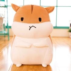 30 Cm Lucu Fat Hamster Gambar Rag Doll Mainan Figurine Floss Mainan Sofa Bantal Malam Ketujuh Ketujuh bulan Harboursb (Rown 囧) -Internasional