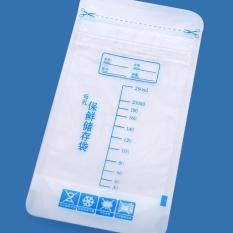 30 Pieces/bag ASI Penyimpanan Tas Penyimpanan Makanan Bayi 250 Ml Sekali Pakai Praktis dan Nyaman ASI Freezer Bags- INTL