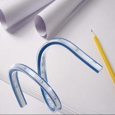 30/40/60 Cm Fleksibel Penggaris Kurva Menggambar Cat Draw Bendy Bahasa Perancis Curve Drafting-Intl By Freebang.