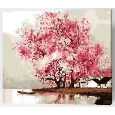 33 Jenis 40X50 CM Handpainted DIY Lukisan Minyak dengan Bingkai Kayu DIY Nomor Lukisan Modern Pemandangan Seni Bunga Dekorasi Dinding For Rumah (Jiangnan) -Intl