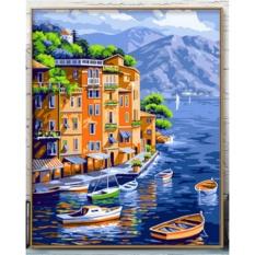 33 Jenis 40X50 CM Handpainted DIY Lukisan Minyak dengan Bingkai Kayu DIY Nomor Lukisan Modern Pemandangan Seni Bunga Dekorasi Dinding For Rumah (Kota) -Intl