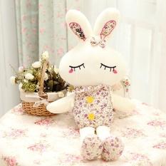 38 Cm Pernikahan Merayakan Boneka Benang Mainan Yang Indah untuk Merasa Malu Kecantikan Kelinci Pola Bunga