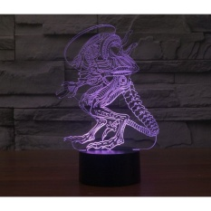 3D Creative Extraordinary man LED light Table lamp Rainbow colortouch bedside Lamps atmosphere colorful desk lamp