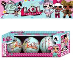 Jual Beli 3Pcs Lol Dolls Ball Surprise Egg Baby Girls Dress Up Magic Pet Balls Action Figures Boneca Toy For G*rl Kids Christmas Gift 10Cm Intl