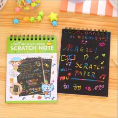 3 pcs (Ukuran S) anak-anak Mainan Gambar Gaya Korea Sketsa Catatan Kertas Awal Drawing (Warna Acak)