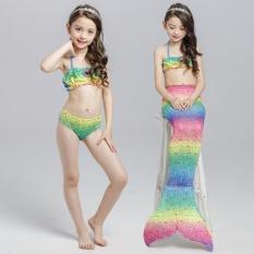 Harga 3 Pcs Set Baru Anak Anak Gadis Mermaid Ekor Memikat B*k*n* Set Swimwear Kostum Berenang Pantai Memakai Baju Terusan Internasional Online