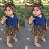 Toko 3Pcs Toddler Kids Baby Girls Summer Outfit Clothes Denim T Shirt Short Skirt Set Intl Termurah Tiongkok