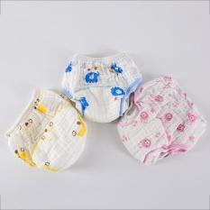 3 Pcs/lot Cuci Gauze Baby Training Pants Kain Popok Celana Dalam Kapas Yang Bisa