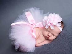 Ulasan Mengenai 3 Set Alat Peraga Bayi Baru Lahir Fotografi Studio Pemotretan Gadis Headband Bunga Rok Tutu Set Atrezo Fotografia Bebe Baby Shower Internasional