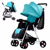 Spesifikasi 4 In 1 Portable Kereta Bayi Anak Tricycle Trolley Baby Stroller Baby Carriage Sepeda Sepeda Bisa Duduk Berbaring Kapas Bebas Mat Keranjang Penyimpanan Kelambu Internasional Murah Berkualitas