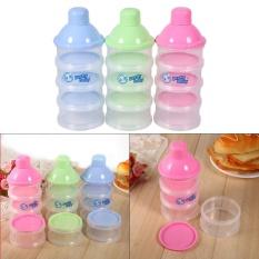 Diskon Produk 4 Layers Portable Baby Milk Powder Formula Dispenser Containers Blue Intl