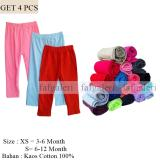 4 Pcs Legging Anak Polos 3 12 Month Bahan Kaos Cotton Faf Galeri Diskon 30
